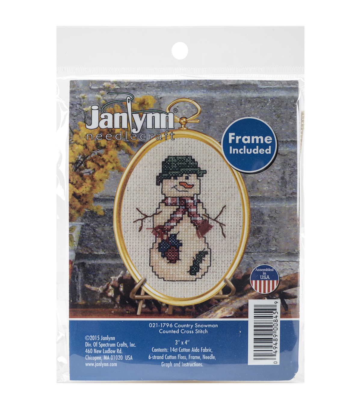 Janlynn® Mini Counted Cross Stitch Kit-Country Snowman