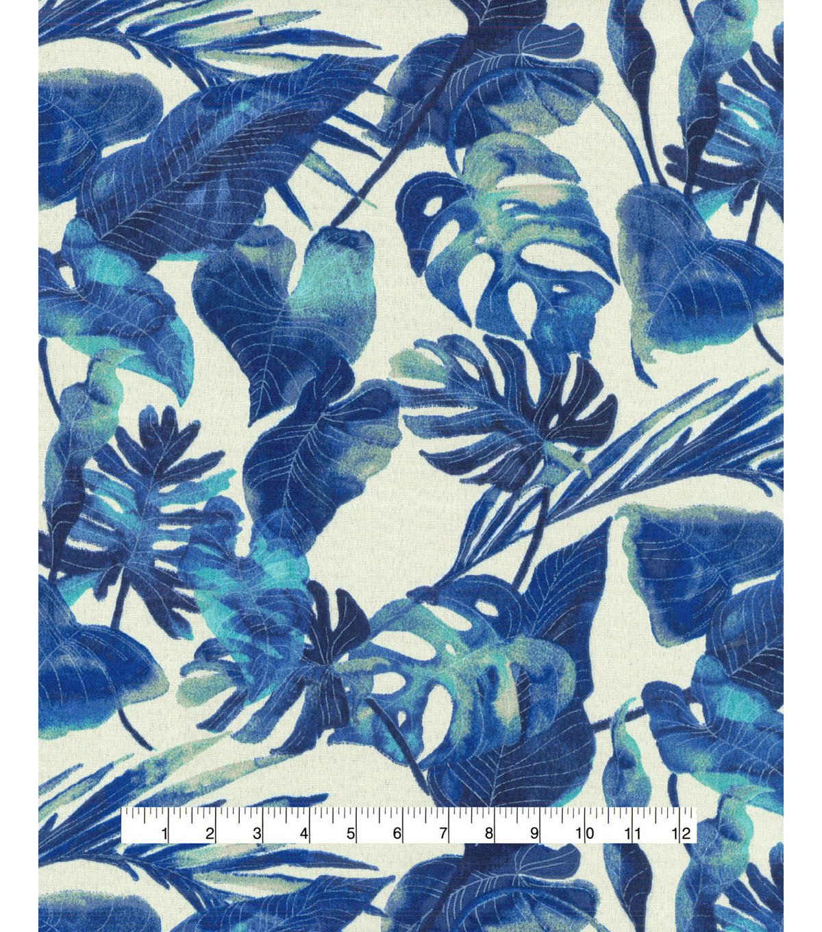 Tommy Bahama Outdoor Fabric 54\u0022- Inky Palms Indigo