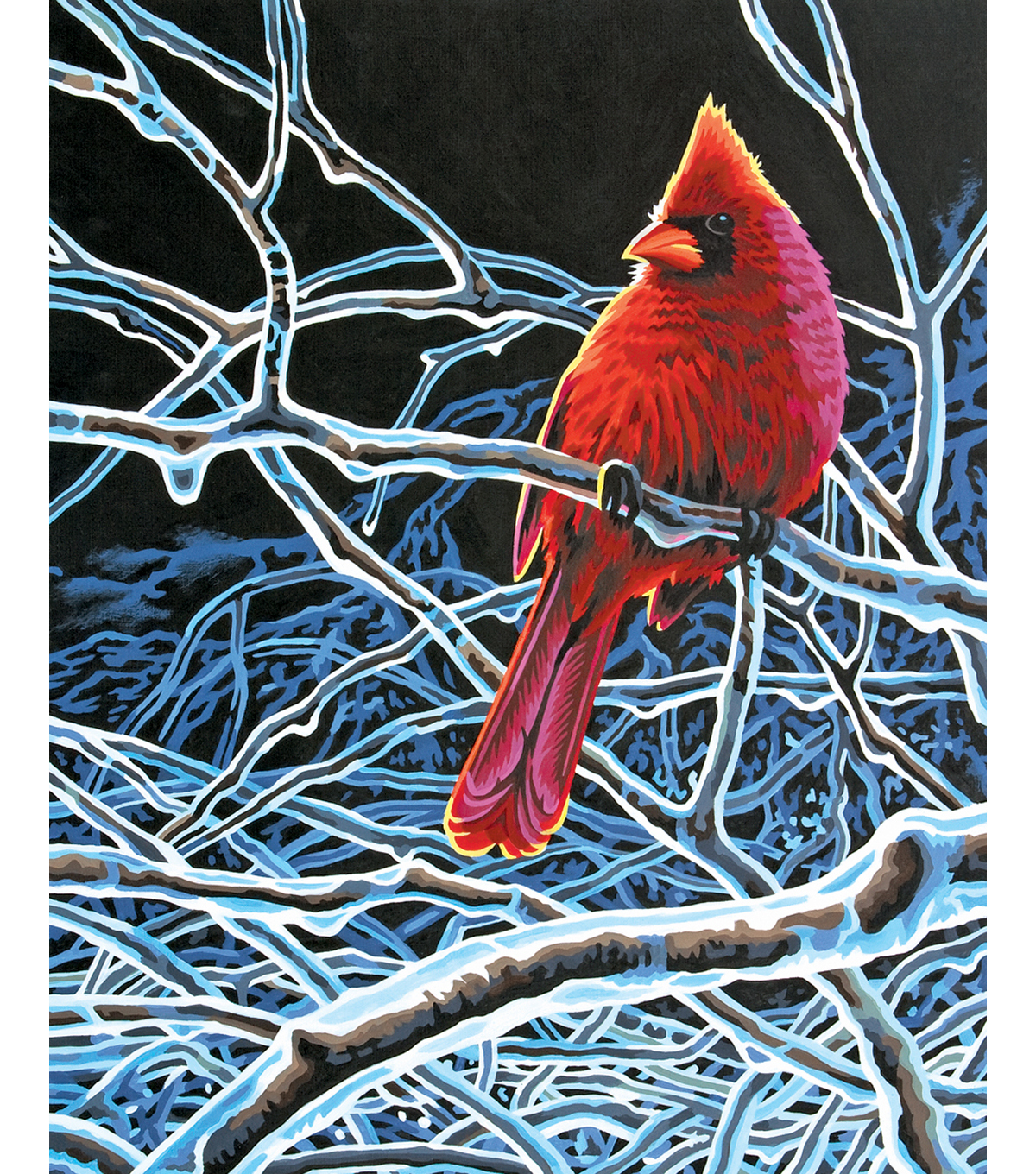 "Reeves Paint By Number Kit 11""X14-Ice Cardinal"