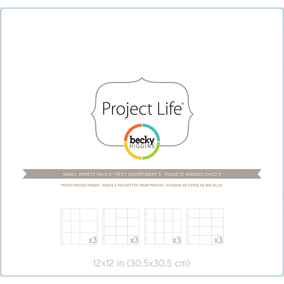 Project Life Page Protectors 12/Pkg-Small Variety Pack 5