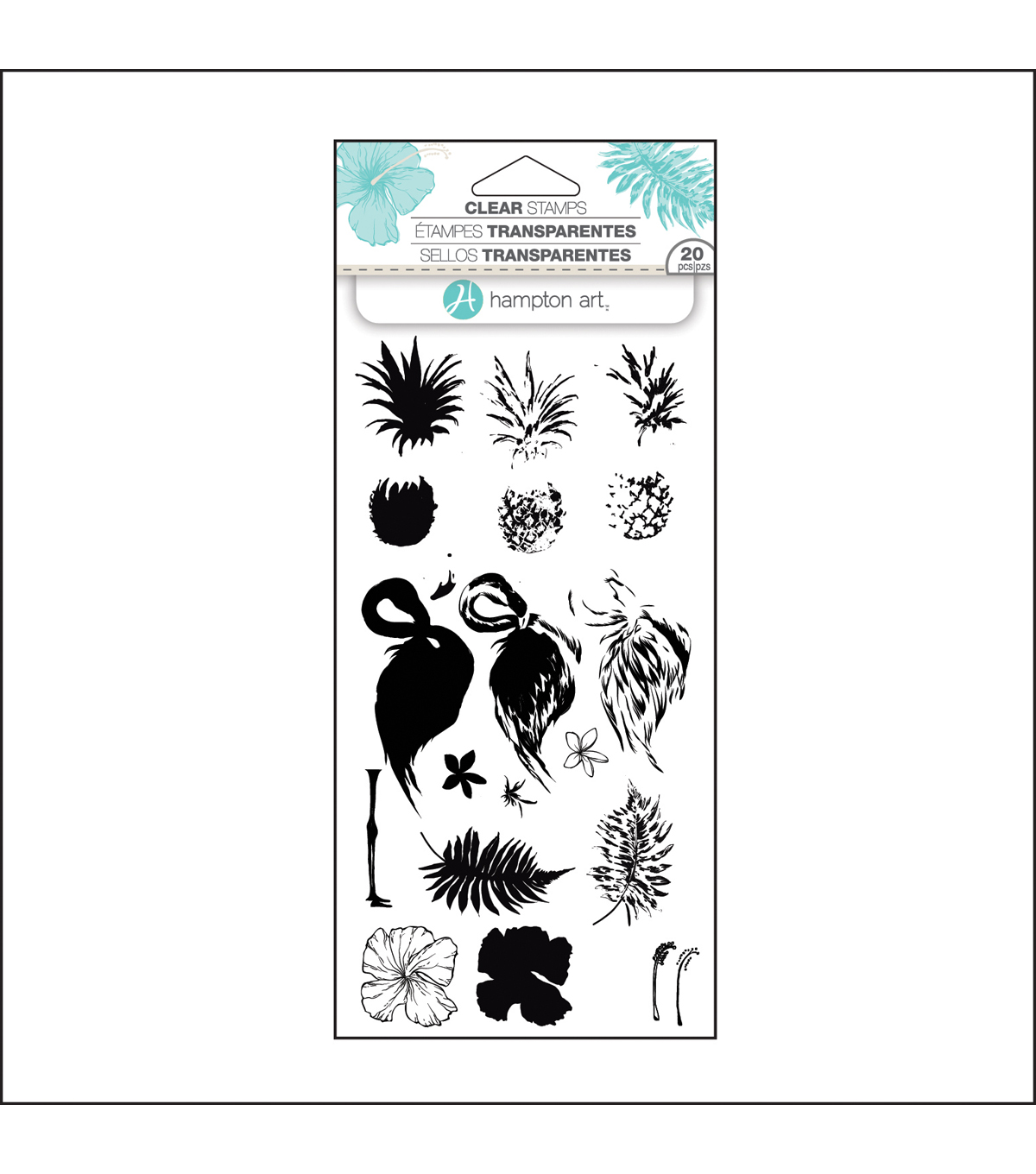 Hampton Art™ Layering Clear Stamp-Tropical