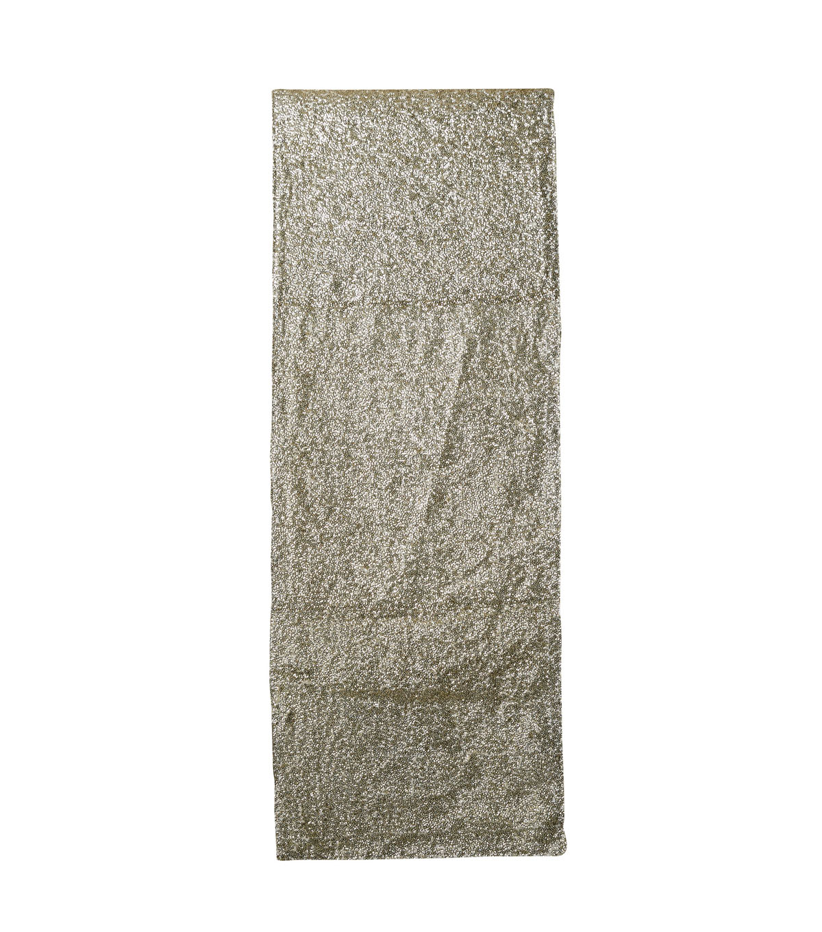 3R Studios Christmas Fabric Sequined Table Runner-Gold