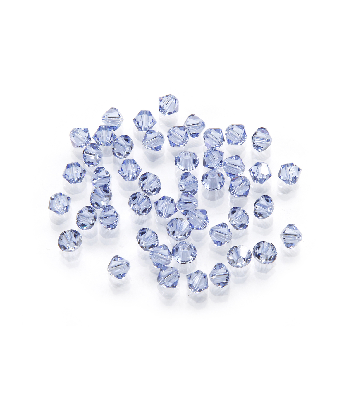 Swarovski™ Faceted Bicone Crystal Beads, Lt. Sapphire, 4mm, 48pc/pkg