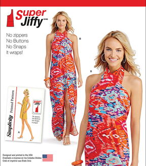 Simplicity Patterns Us1100A-Simplicity Misses\u0027 Super Jiffy Cover Up In Two Length-Xxs-Xs-S-M-L-Xl-Xxl
