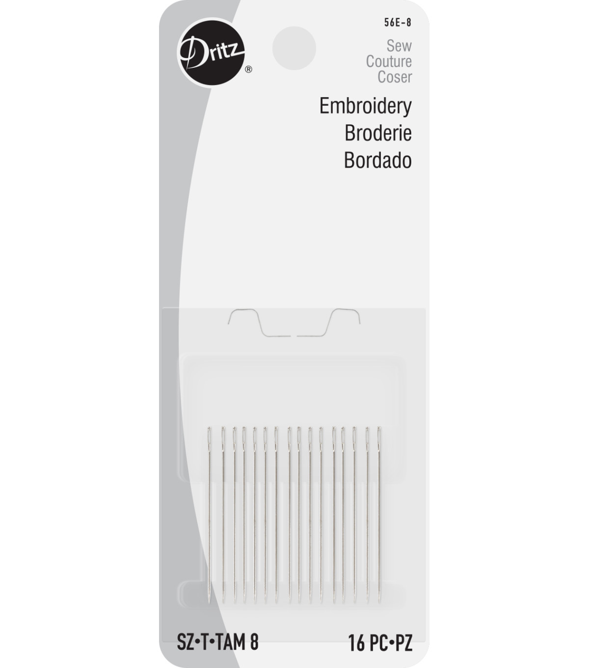 Dritz® Embroidery Hand Needles-Size 8 16/Pkg