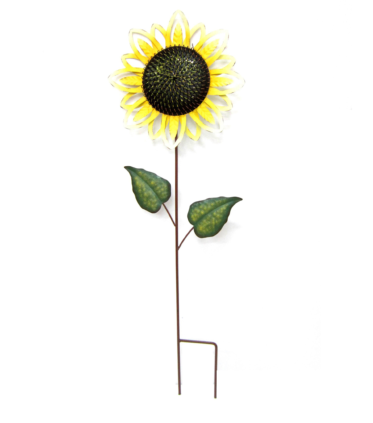 Fall Into Color Metal Sunflower Yard Stake