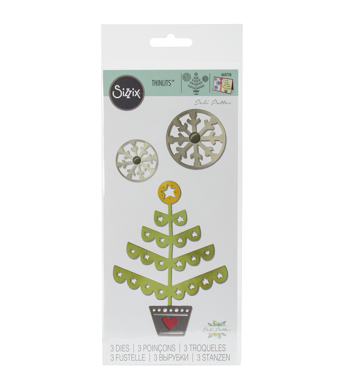 Sizzix® Thinlits Dies-Christmas Tree & Snowflakes