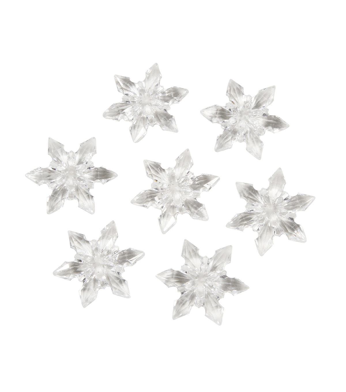 7 oz Clear Snowflakes Diamond Gems