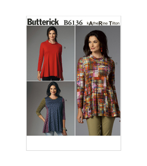 Butterick Misses Top-B6136