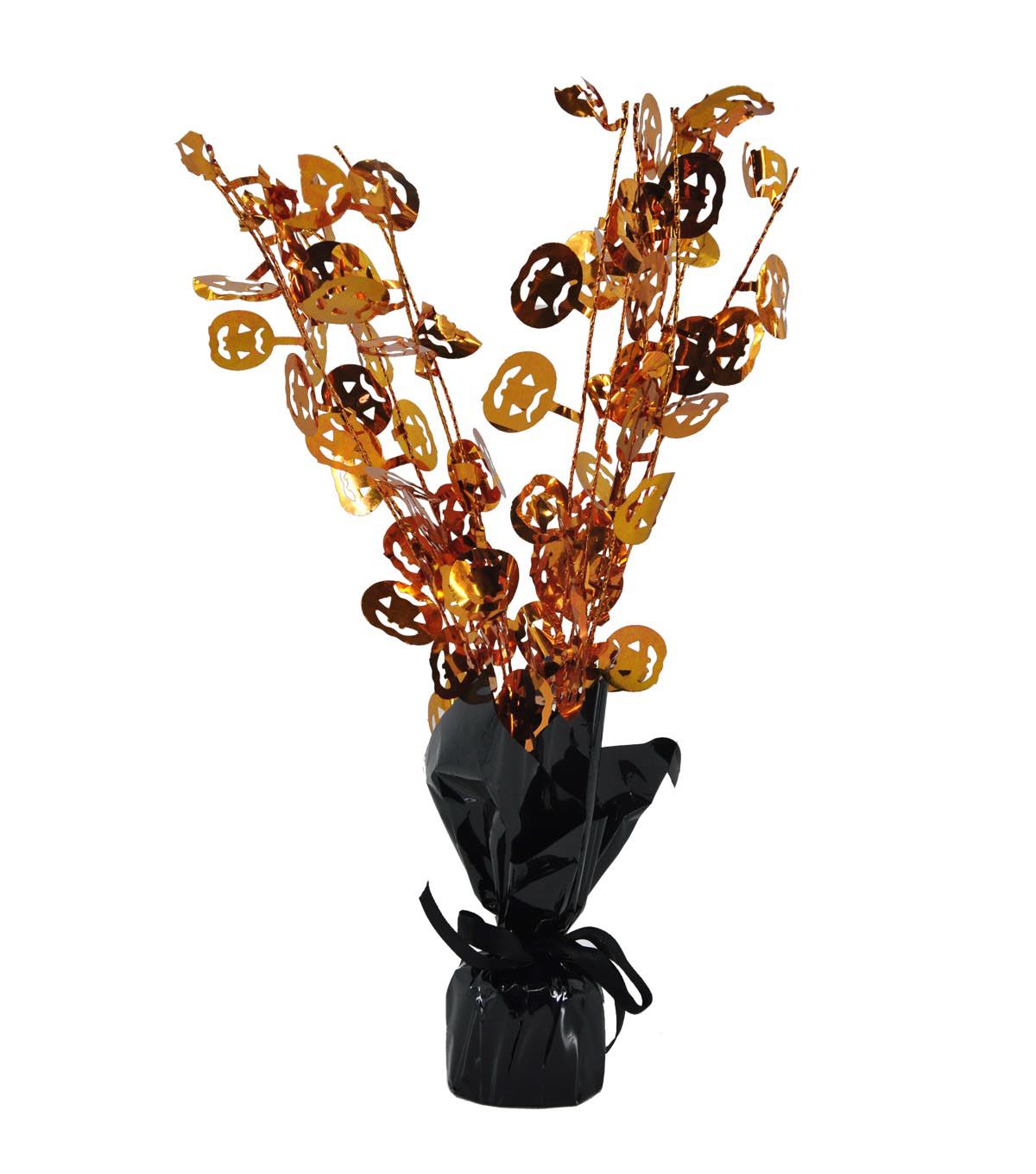 Maker\u0027s Halloween Tinsel Pumpkin Centerpiece