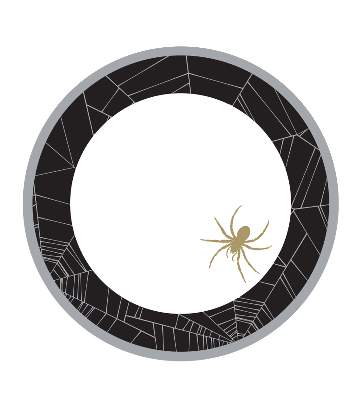 Maker's Halloween 8ct Lunch Paper Plates-Spider Web