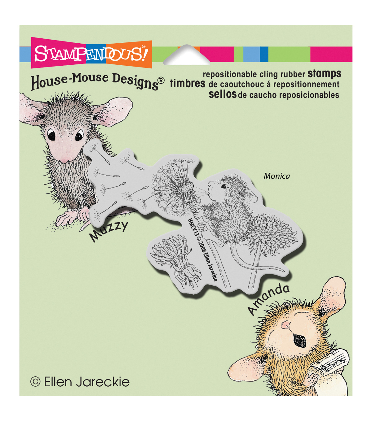 Stampendous House Mouse Cling Rubber Stamp 3.5\u0022X4\u0022 Sheet-Make A Wish