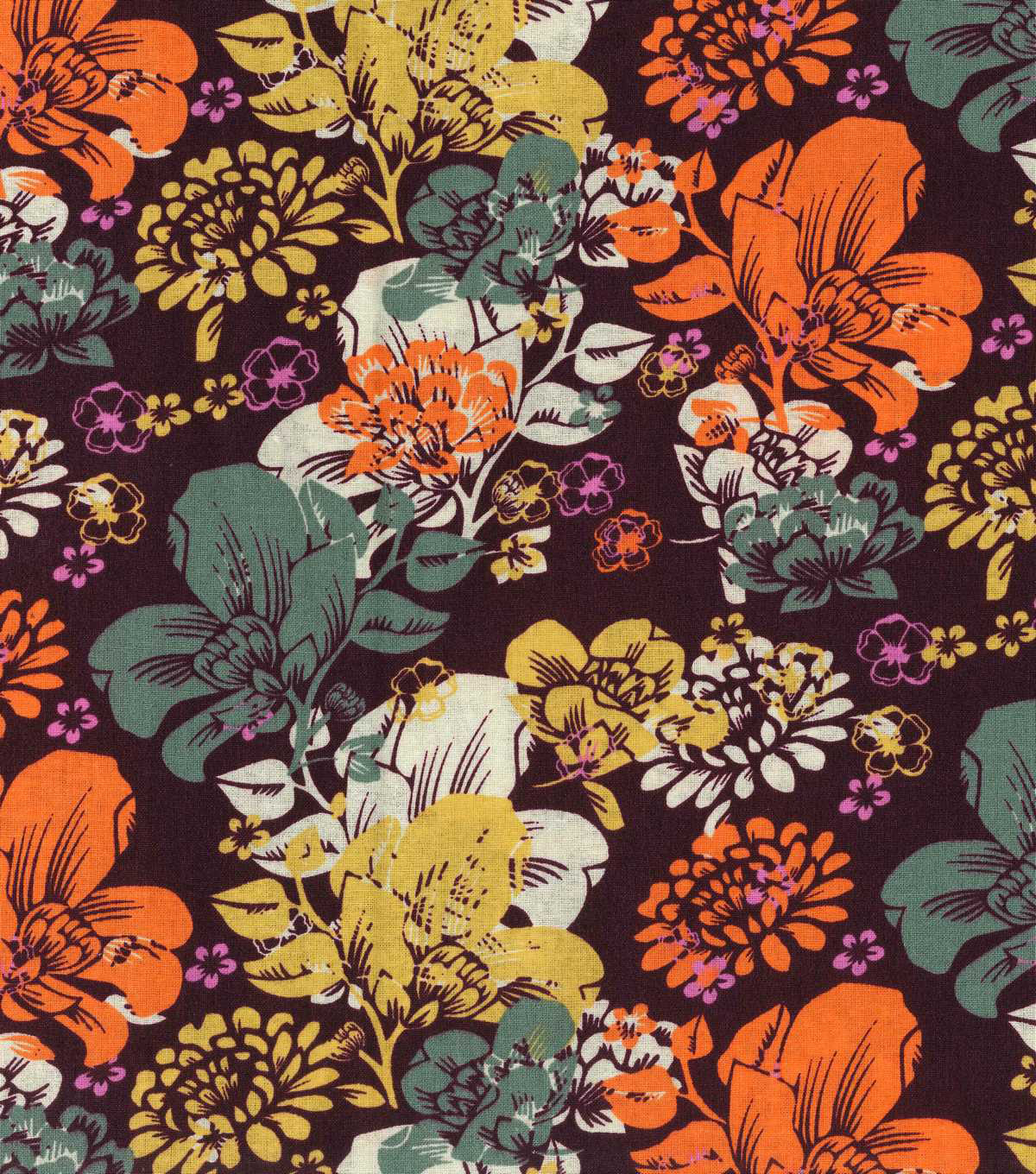 Keepsake Calico™ Cotton Fabric 43''-Large Fall Floral