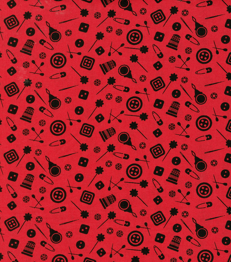 Novelty Cotton Fabric-Notions Scatter