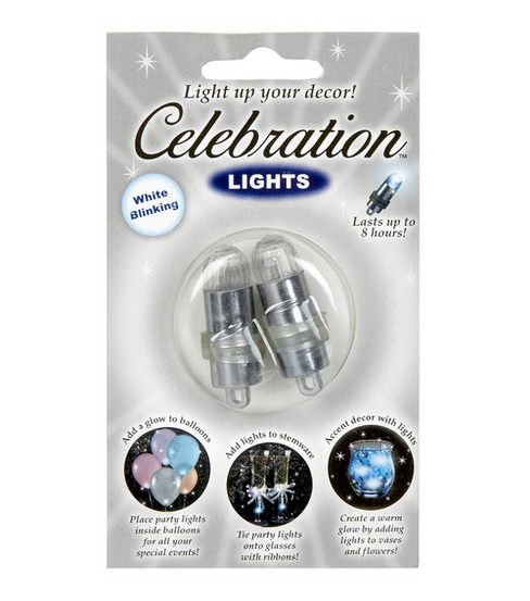Darice® 2pk Blinking Mini Party Lights-White