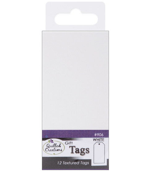 Quilled Creations Gift Tags-12PK/White