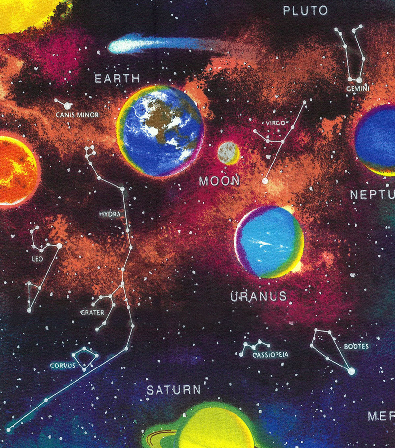 Novelty cotton fabric panel 44 outer space joann for Space cotton fabric
