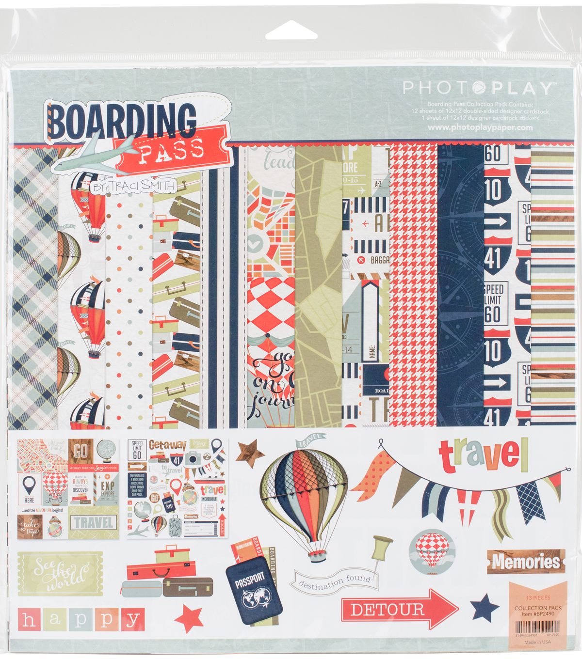 Photo Play Collection Pack 12\u0022X12\u0022-Boarding Pass