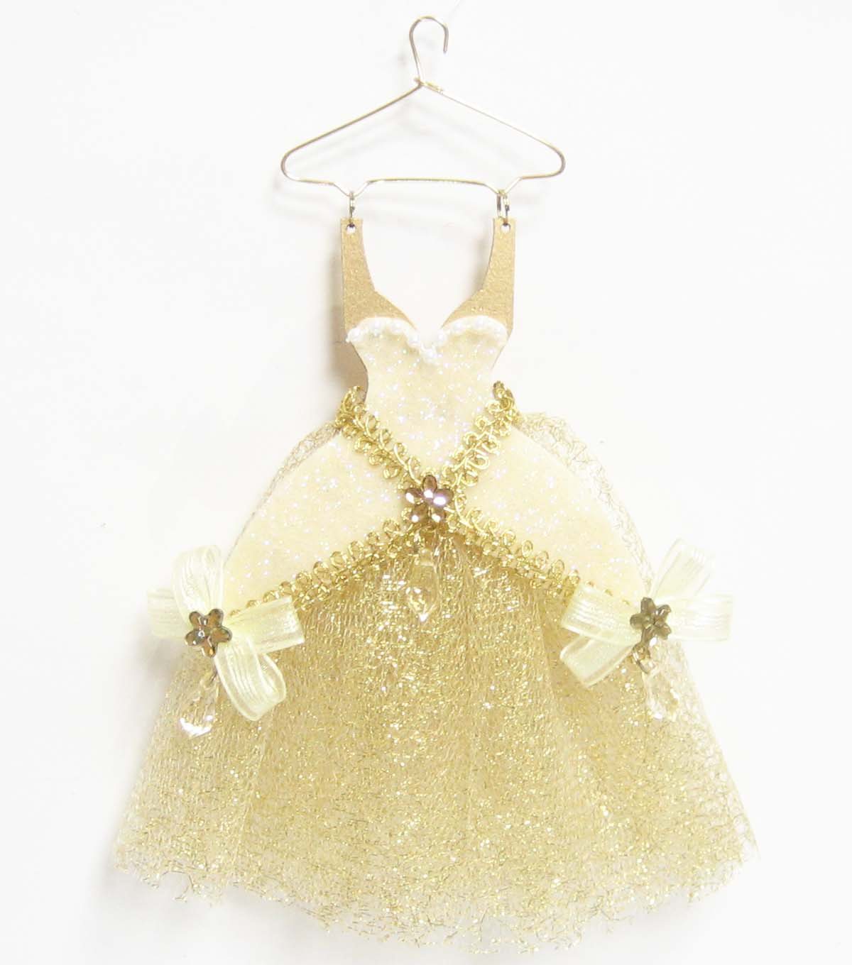 Maker's Holiday Dress Ornament-Gold