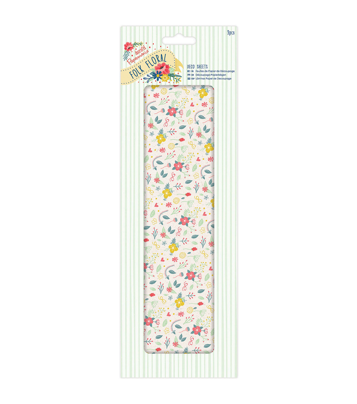 Papermania Folk Floral 3ct Deco Sheets-Wildflowers