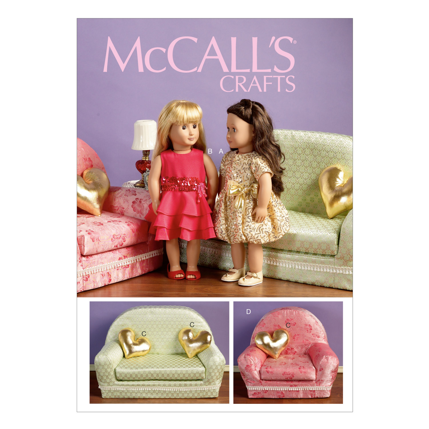 McCall\u0027s Crafts Doll Clothes-M6853