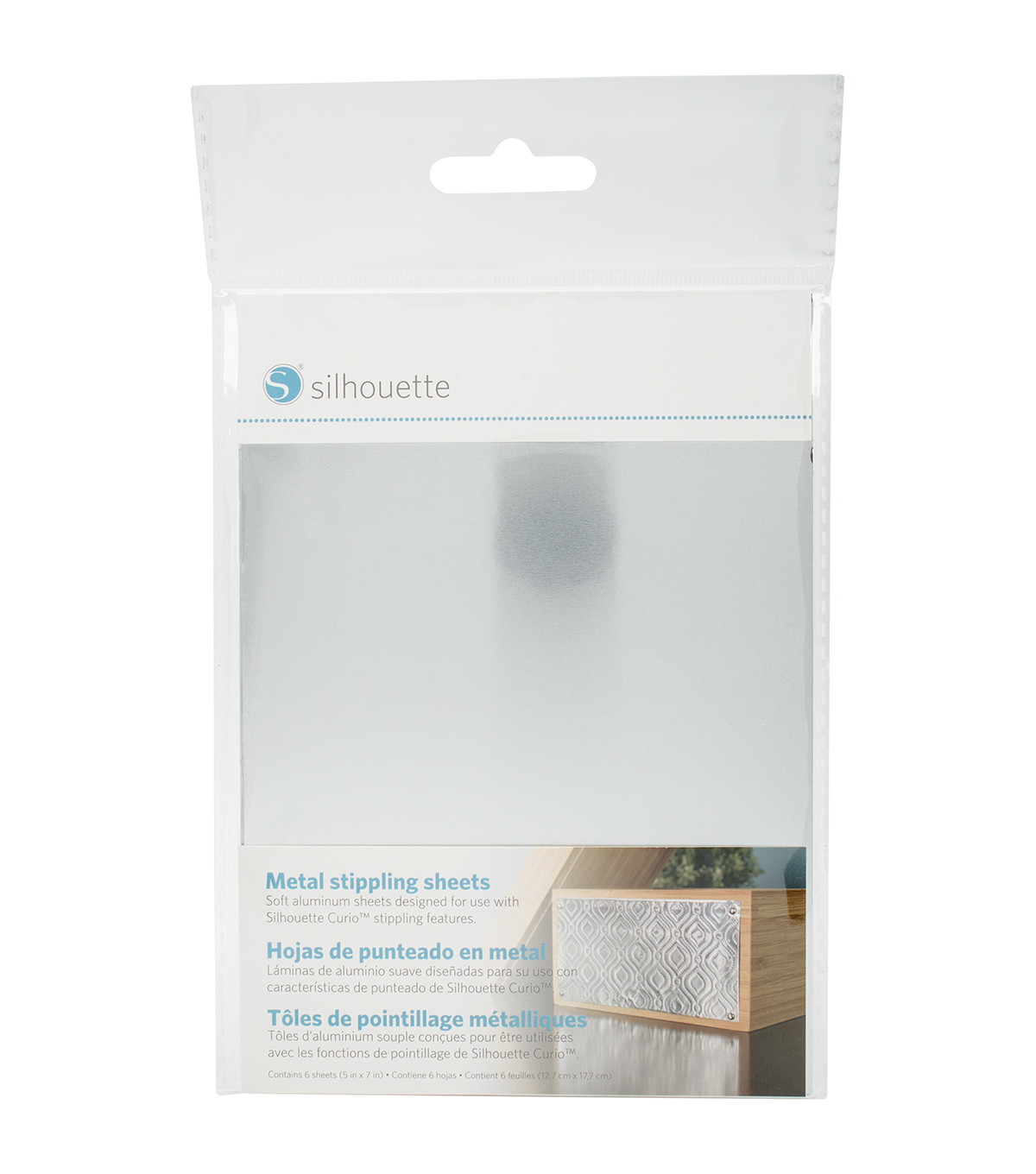 Silhouette of America® 6 Pack 5\u0027\u0027x7\u0027\u0027 Curio Metal Stippling Sheets