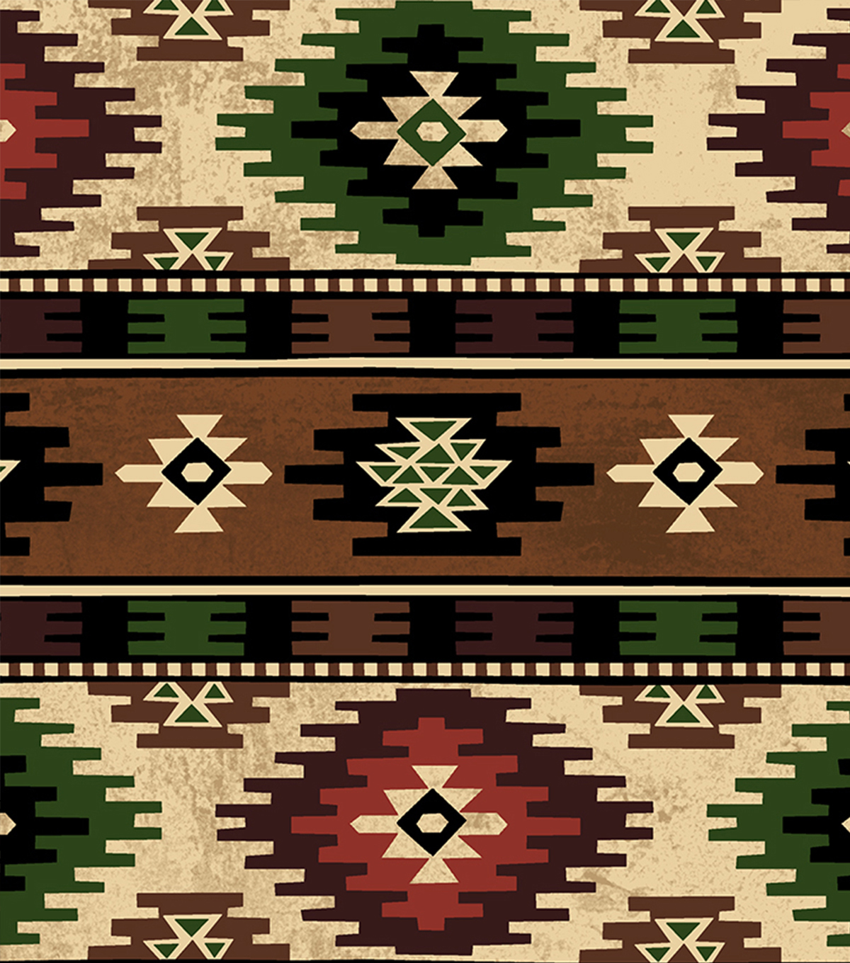 "Anti-Pill Fleece Fabric 58""-Bear Lake Aztec"