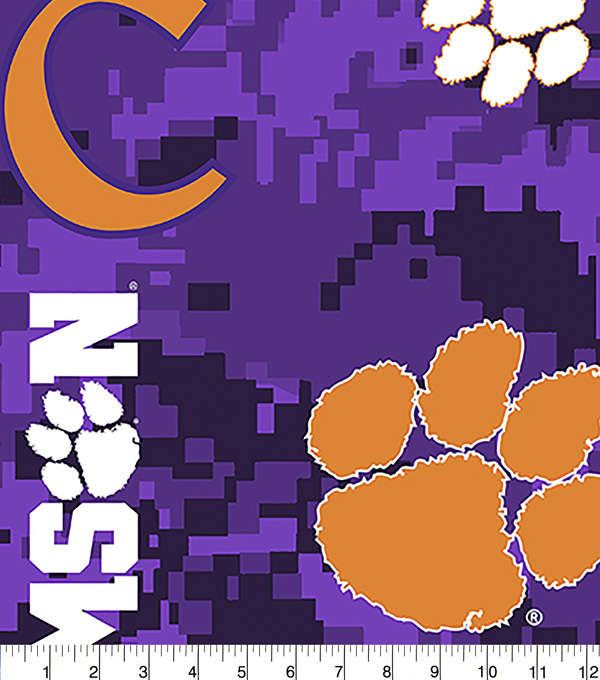 Clemson University Tigers Fleece Fabric 60\u0022-Digital Camo