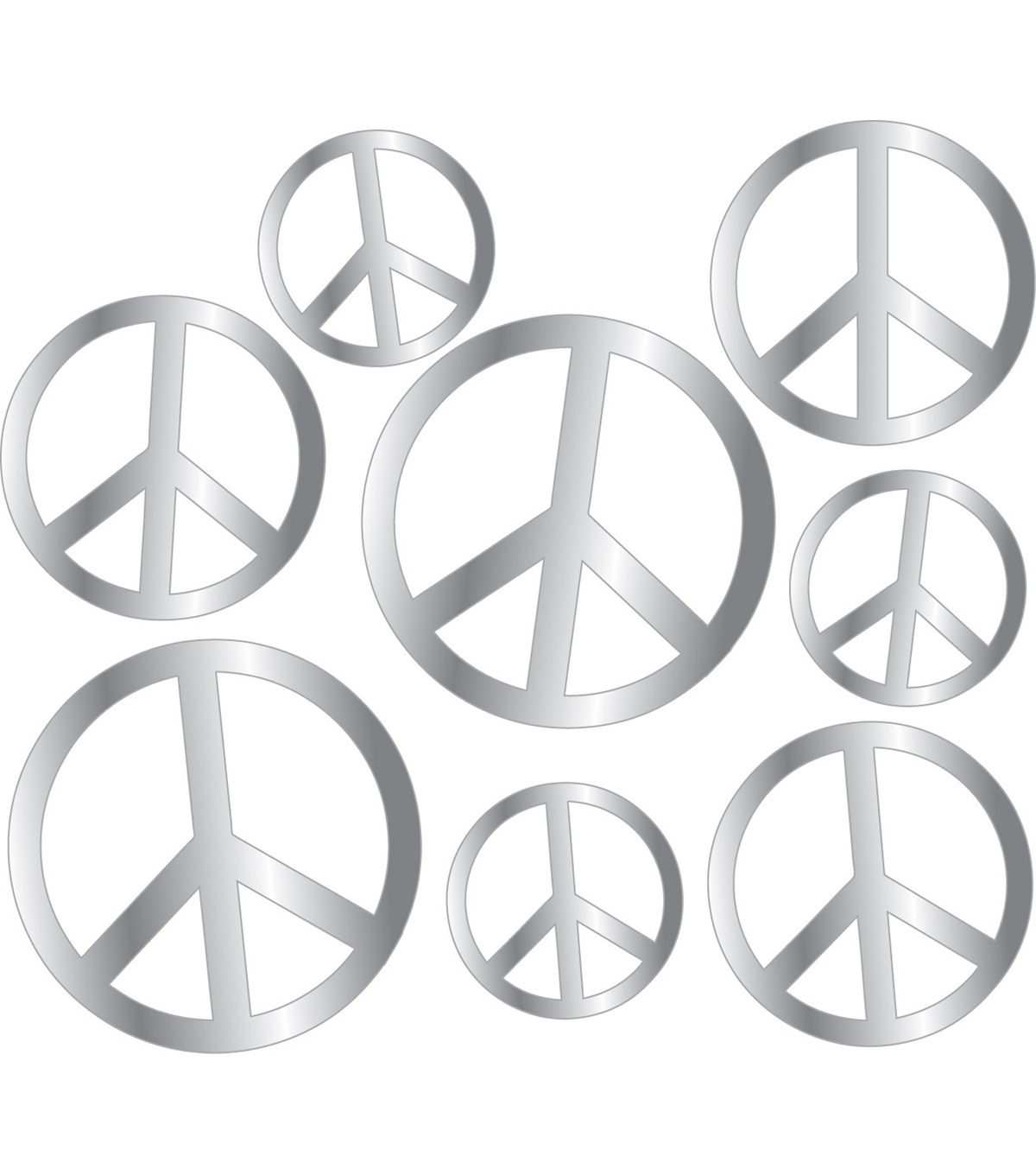 MINI 3D PEEL STICK PEACE MIRROR