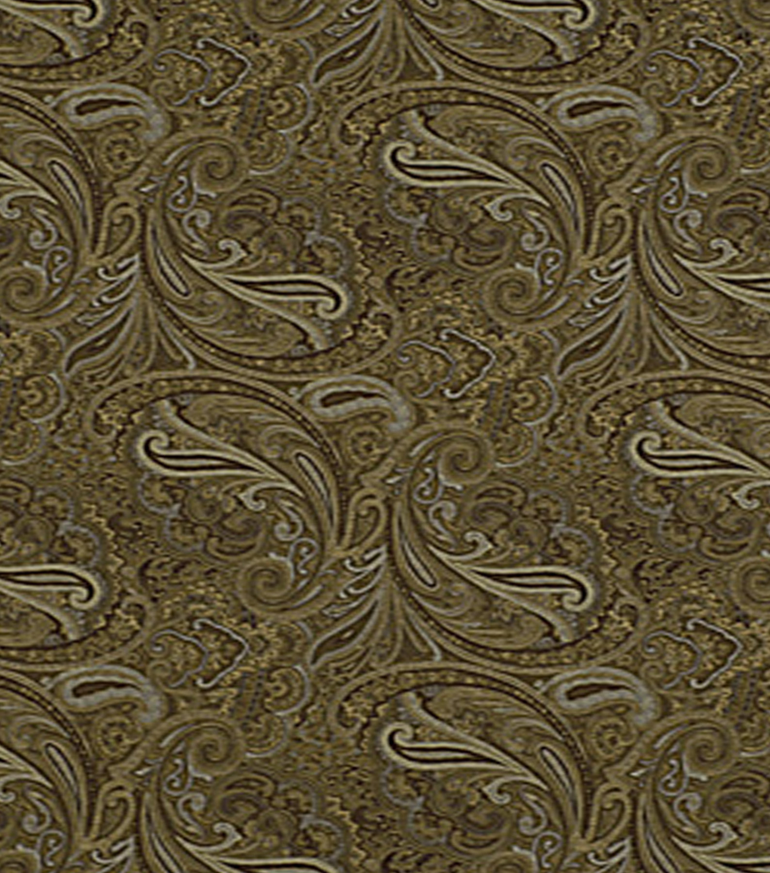 Home Decor 8\u0022x8\u0022 Fabric Swatch-Print Fabric Robert Allen Patna Paisley Fawn