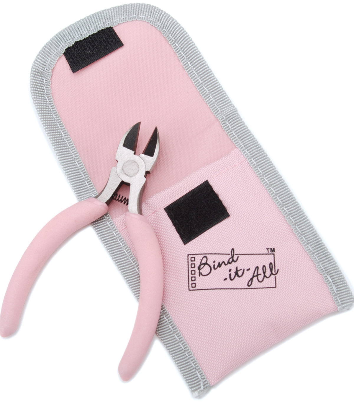Bind-It-All Wire Cutters In Pouch-Pink