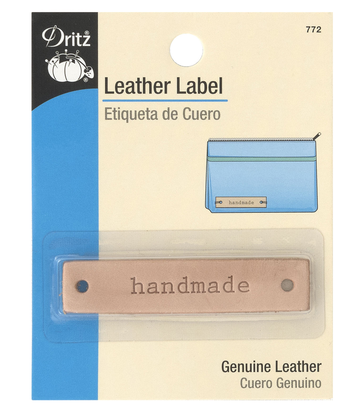 Dritz Leather Rectangle Label-handmade