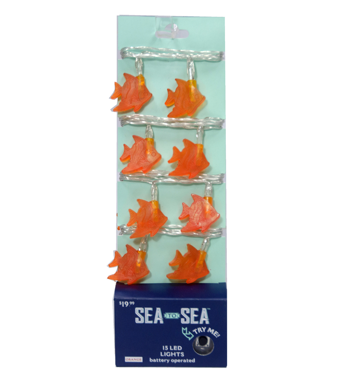 Sea to Sea 15ct Battery Operated Angel Fish LED Lights-Coral