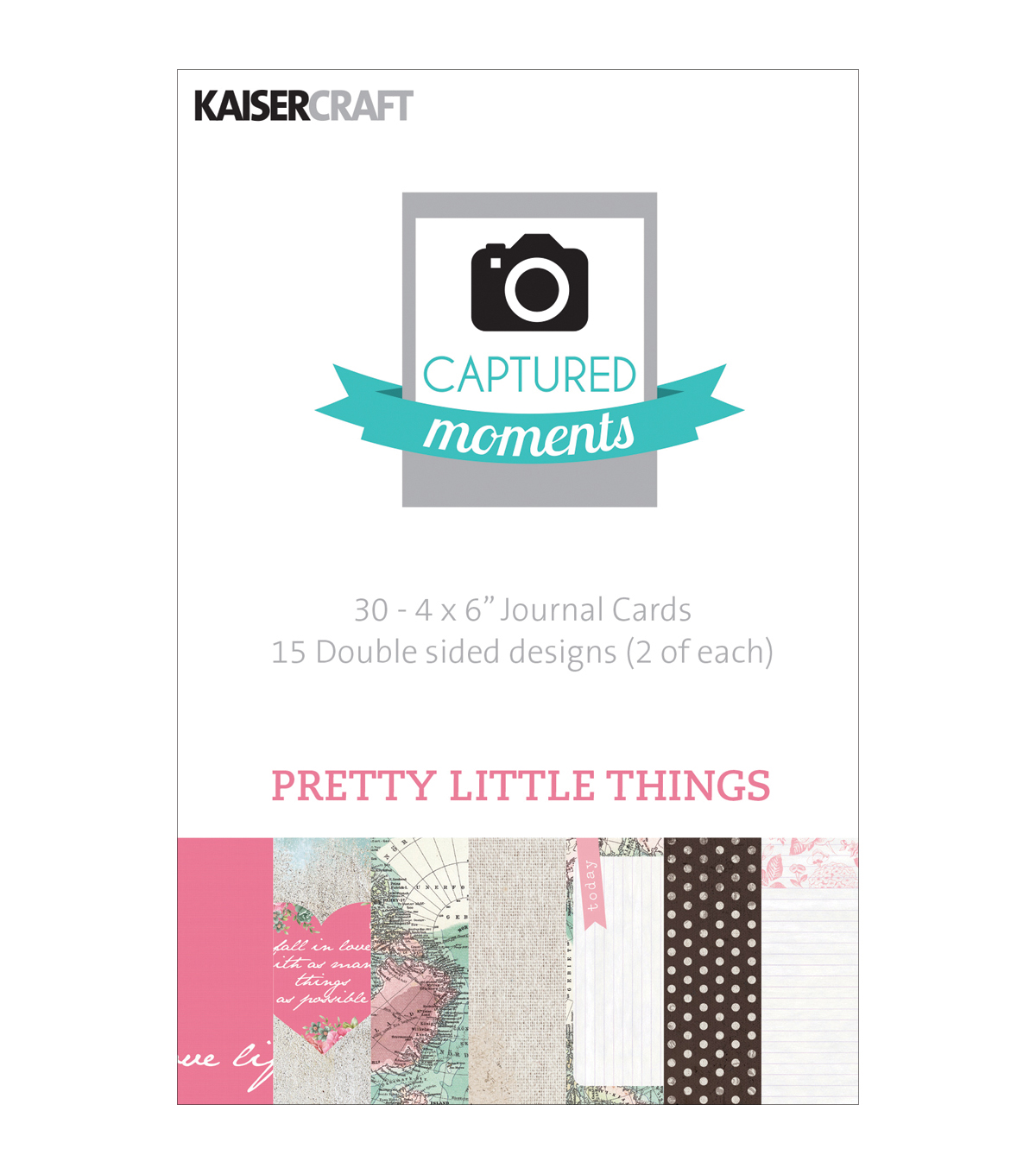 "Captured Moments Double-Sided Cards 6""X4"" 30/Pkg-Pretty Little Things"