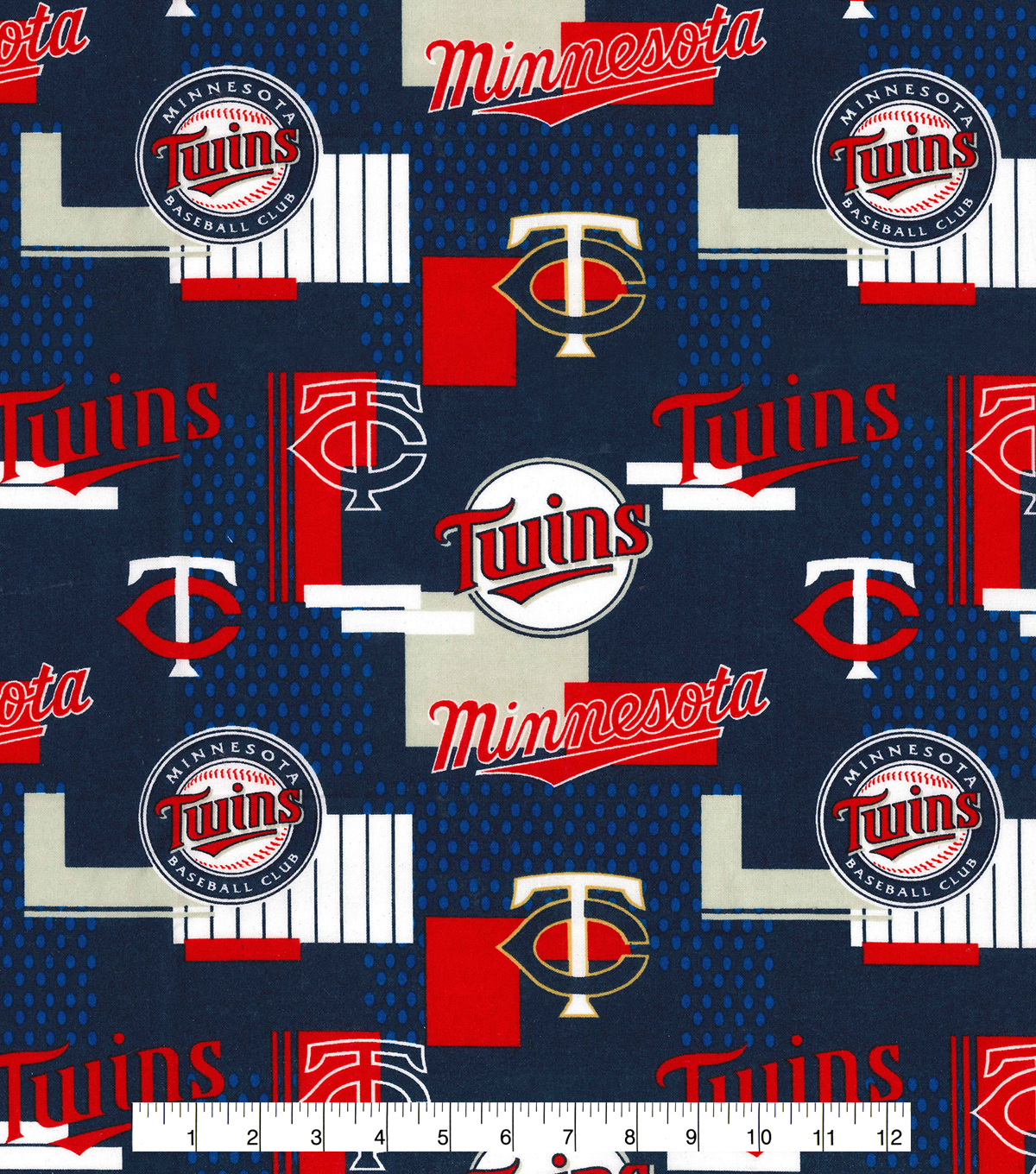 Minnesota Twins Cotton Fabric 58\u0027\u0027-Patch