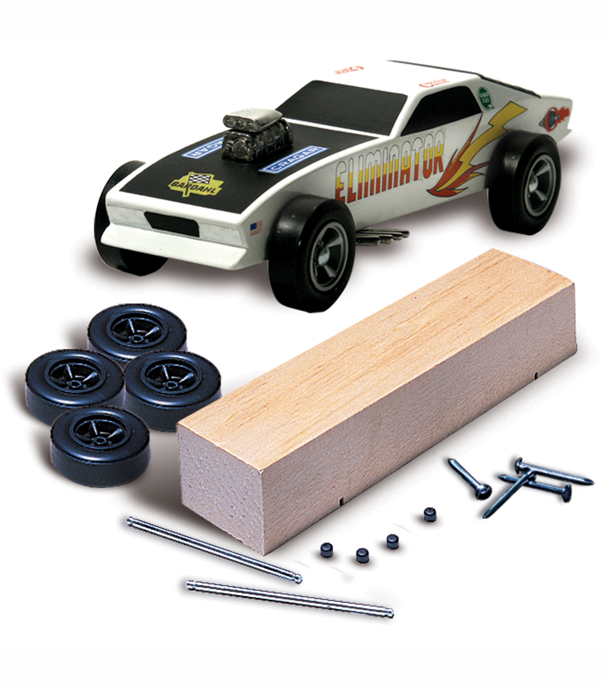 pinewood derby car kit basic