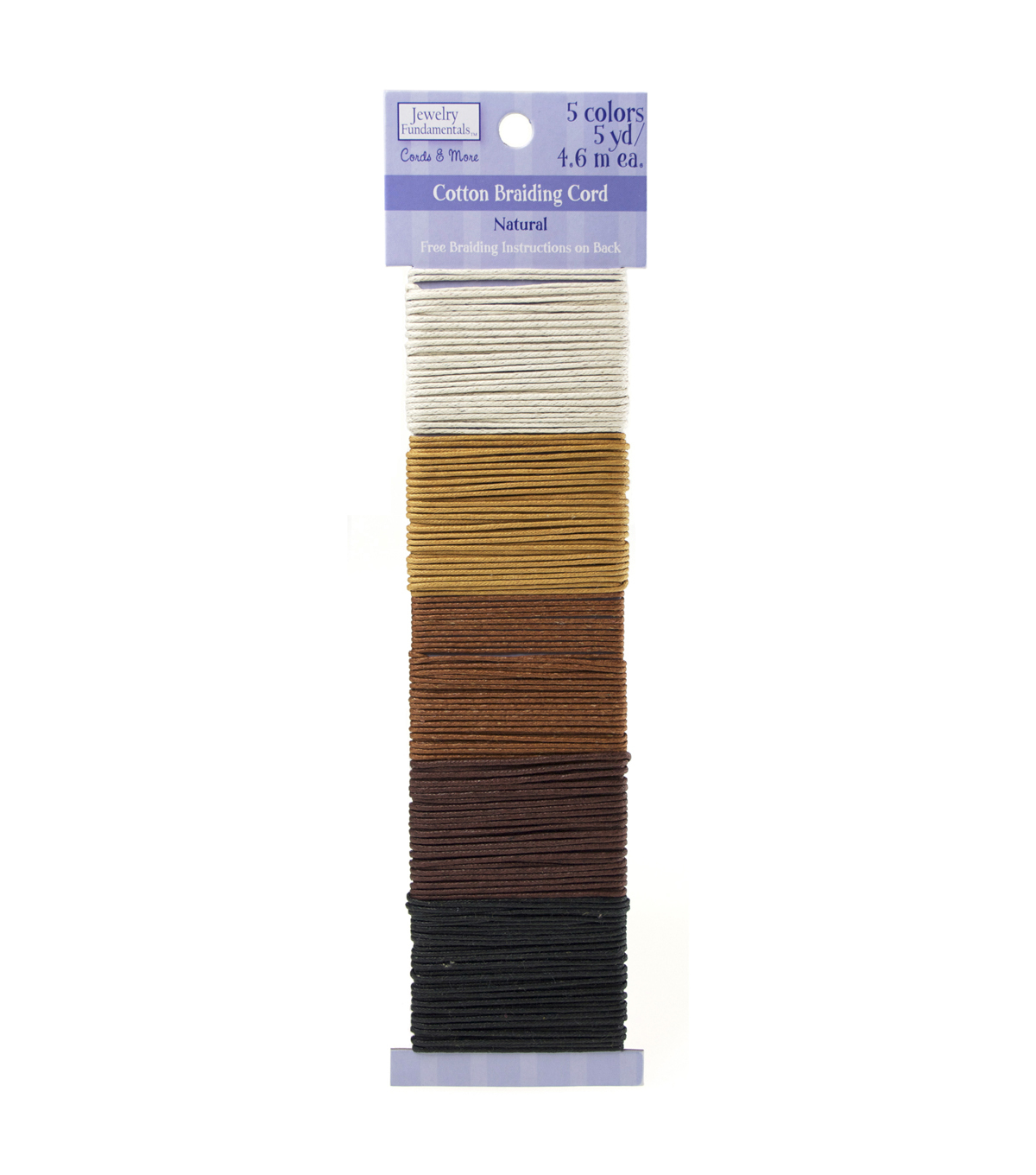 Jewelry Fundamentals Cords & More-Cotton Cord Value Pack, Natural
