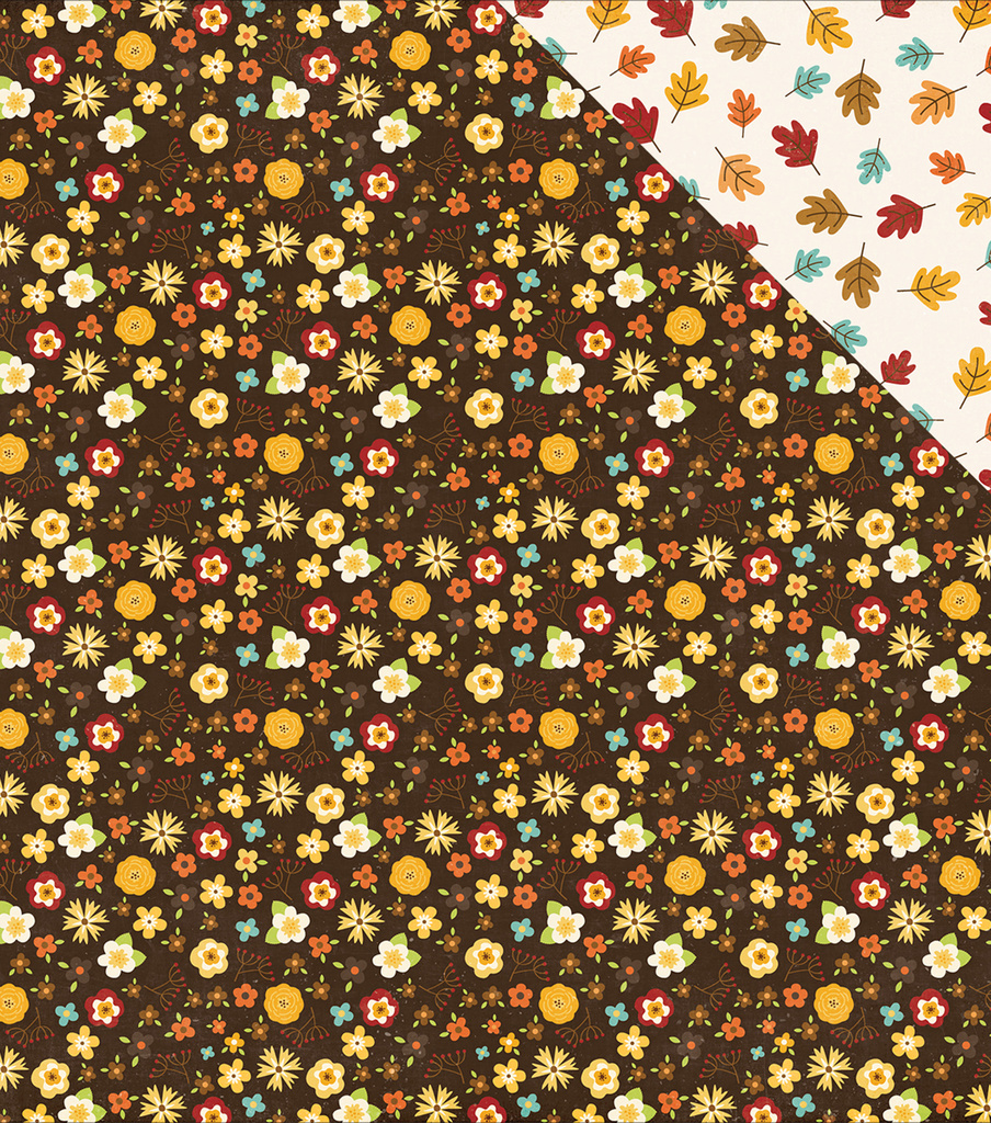 "A Perfect Autumn Double-Sided Cardstock 12""X12""-Autumn Bouquet"