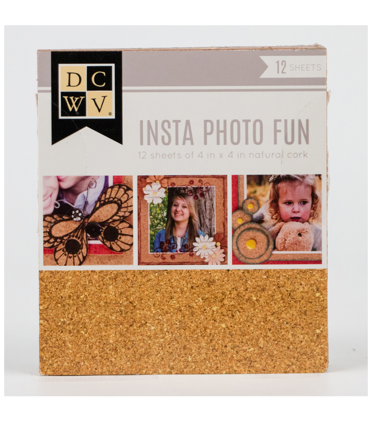 DCWV Insta Photo Fun 4\u0022x4\u0022 Cork Stack