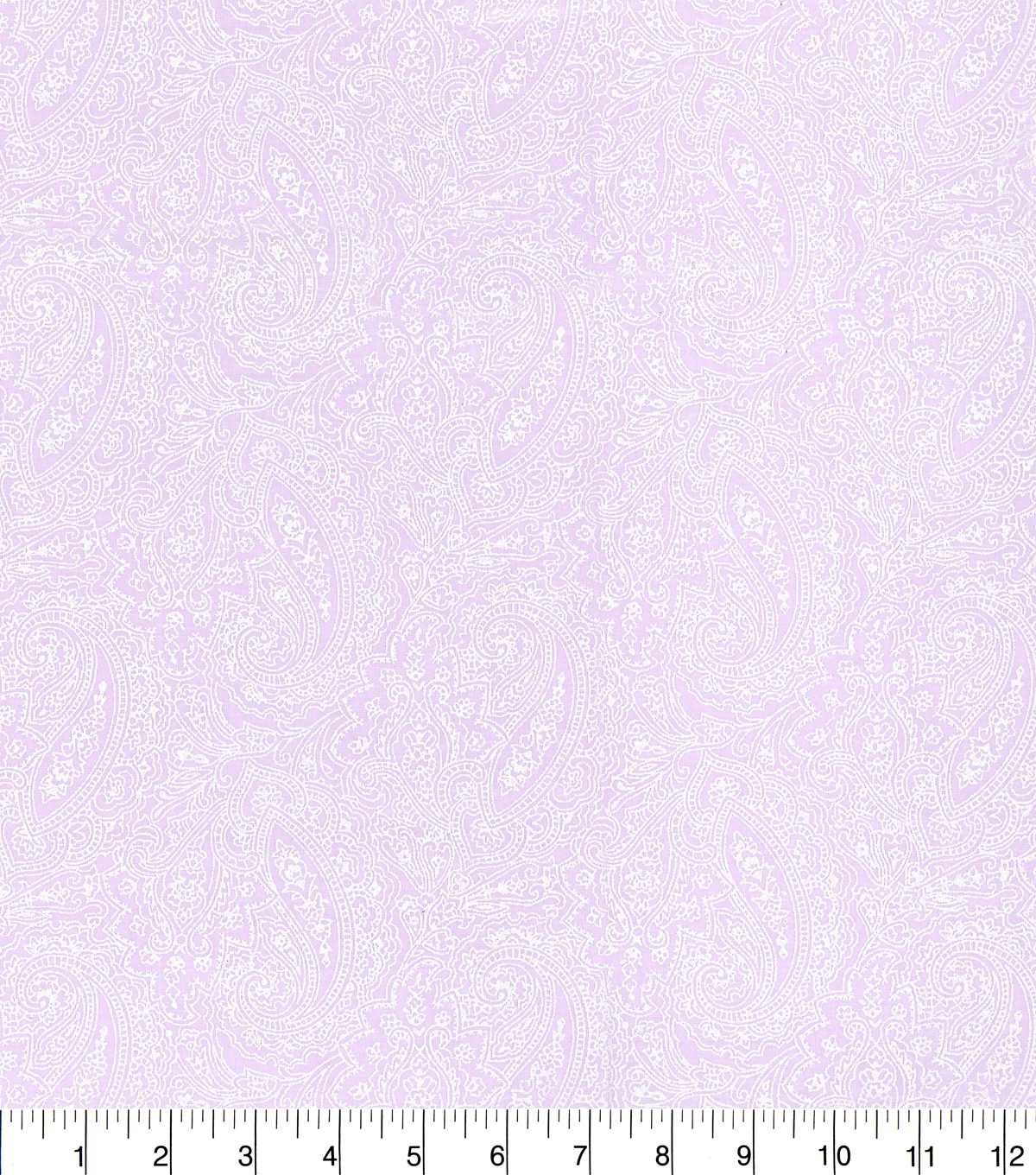 Made in America Cotton Fabric 44\u0022-Pearl Paisley Lilac