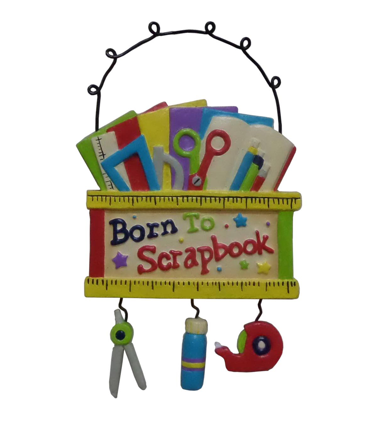 Maker\u0027s Holiday Christmas Ornament-Born To Scrapbook