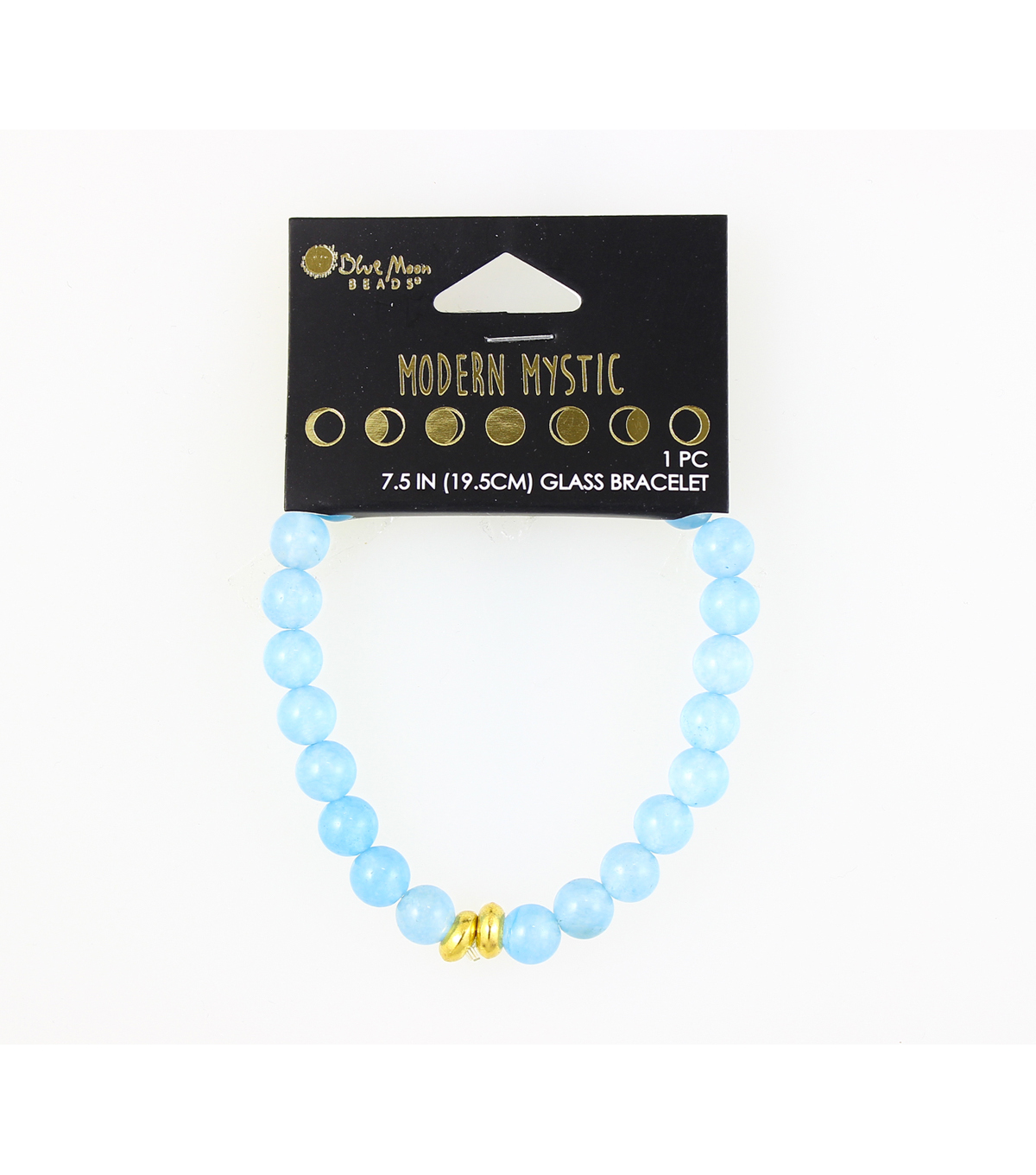 Blue Moon Beads® Modern Mystic Glass Bracelet-Gold & Royal Blue