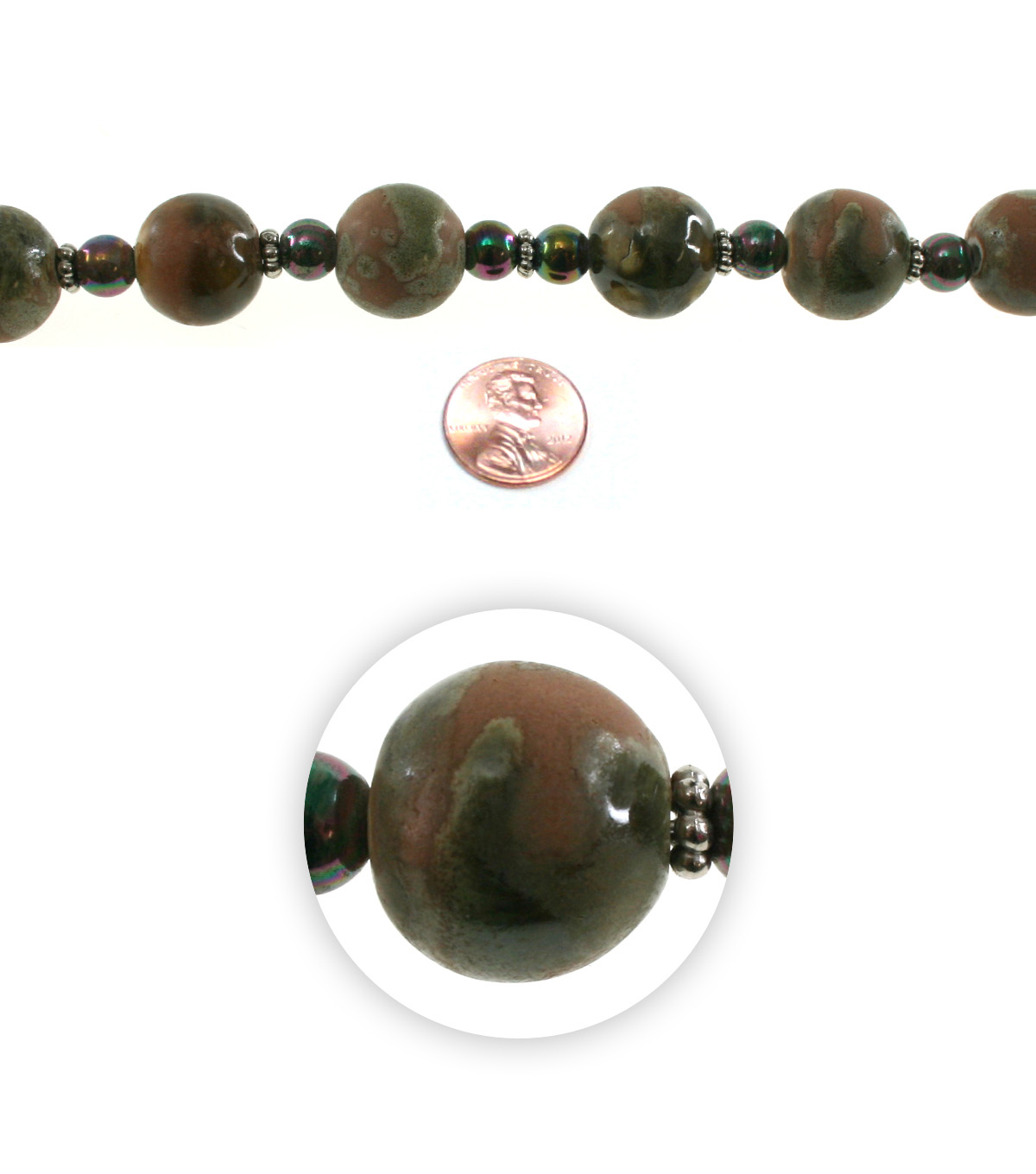 Advantus/Sulyn 7 in Cavern Spheres Bead Strand, Solid Ground