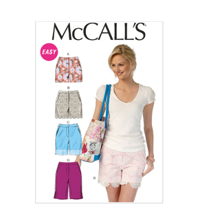 McCall's Pattern- M7165-D50 Misses' Shorts-12-14-16-18-20