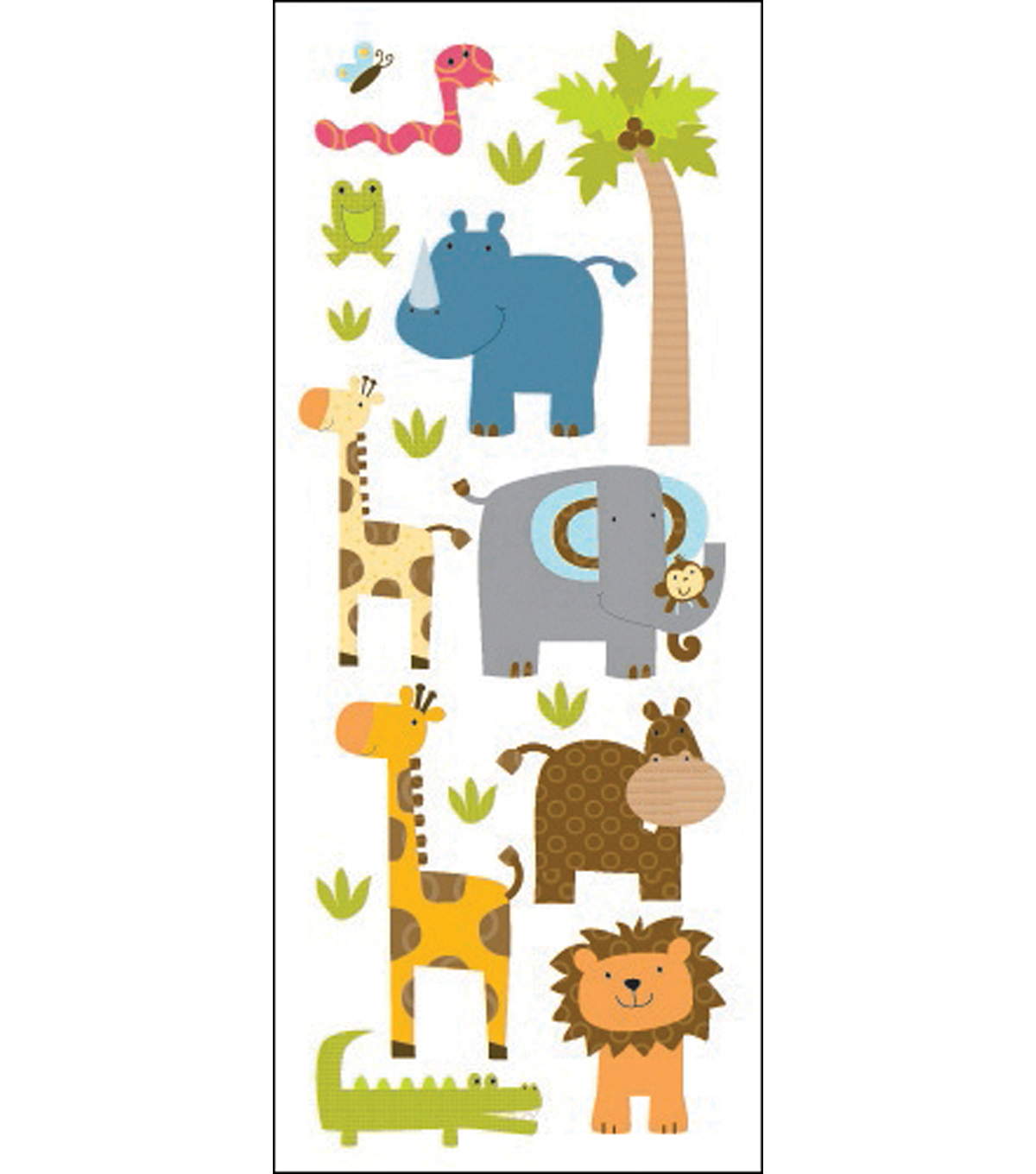 EK Success Classic Puffy Stickers-Zoo Friends