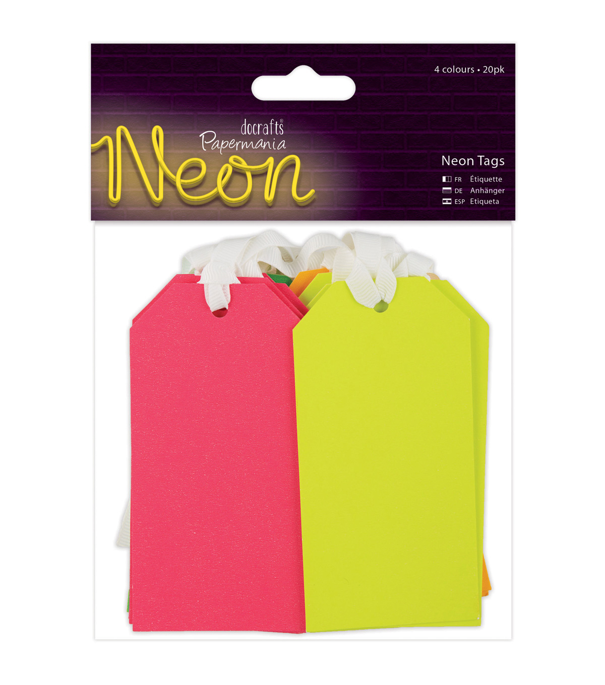 Papermania 20ct Tags-Neon