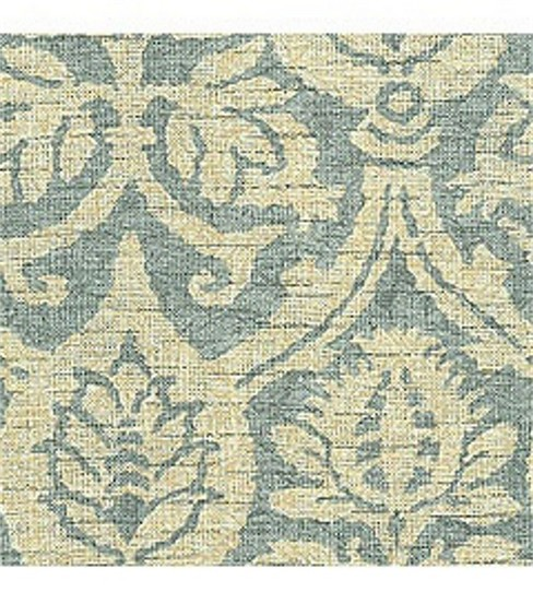 Waverly Upholstery Fabric-Damask Duet Robin'S Egg