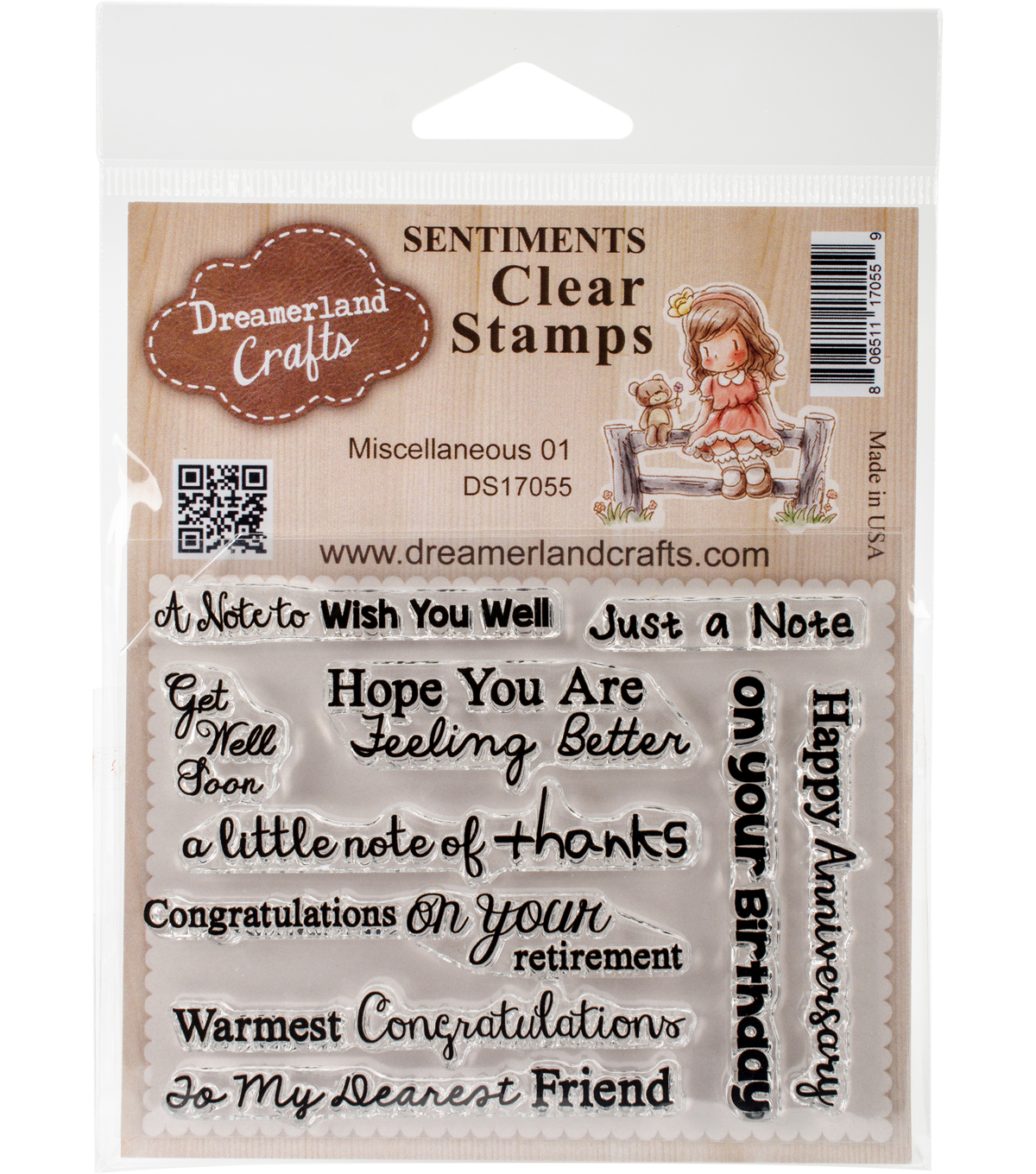 Dreamerland Crafts Clear Stamp Set 3\u0027\u0027x4\u0027\u0027-Miscellaneous 01