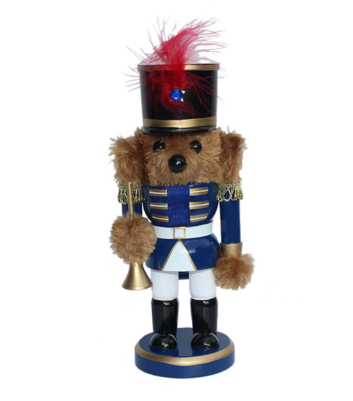 Maker\u0027s Holiday 9\u0027\u0027 Trumpet Nutcracker