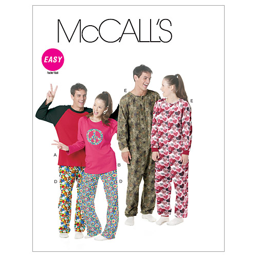 McCall\u0027s Pattern M6251 Adult Sleep & Lounge-Size L-XL